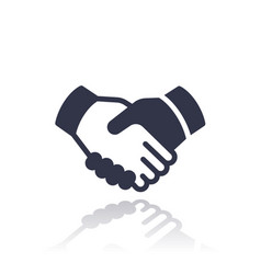 handshake deal partnership icon vector image