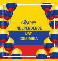 happy independence day colombia banner vector image