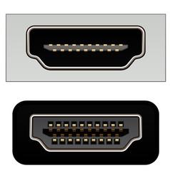 Hdmi digital video connectors vector