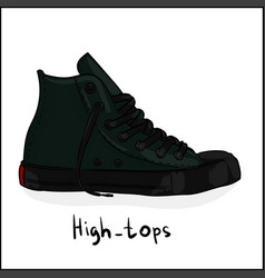 high-tops vector image
