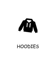 Hoodies flat icon vector