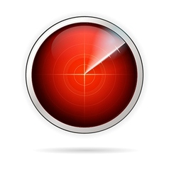 icon for red radar vector image