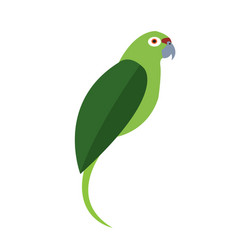 Isolated abstract parrot vector