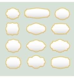 Isolated stylized frames logo set Vintage vector image
