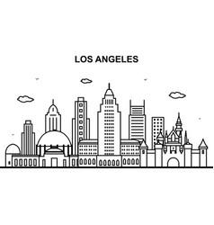 Los angeles city tour cityscape skyline line vector