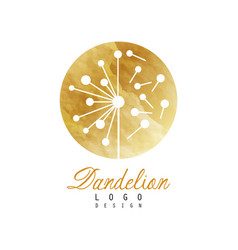 Luxury dandelion logo design template textured vector