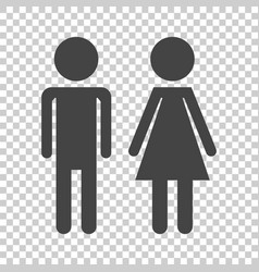 Man and woman icon on isolated background modern vector