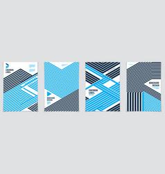 Minimalistic brochure designs geometric patterns vector