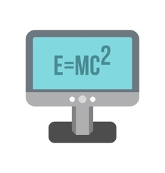Monitor with the Theory of Relativity formula icon vector