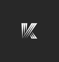 monogram k letter logo initial identity creative vector image
