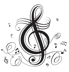 music beat vector image