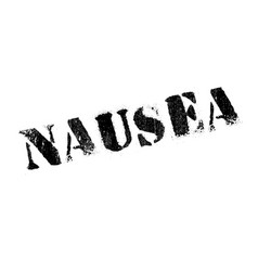 nausea rubber stamp vector image