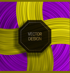 Octagonal frame on colorful dynamic background vector