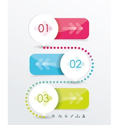 Option or number banners template graphic or vector image vector image