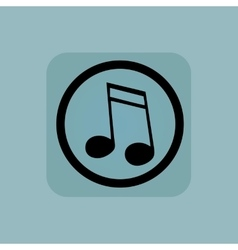 Pale blue 16th note sign vector
