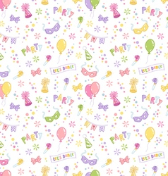 Party accessories seamless pattern vector image