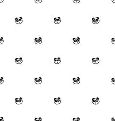 Pattern funny panda vector