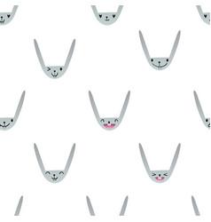 Rabbit emoticons pattern-10 vector