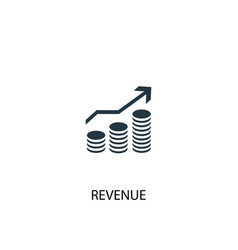 Revenue icon simple element revenue vector