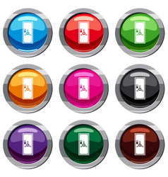 safe door set 9 collection vector image
