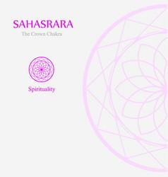 Sahahrara- crown chakra vector