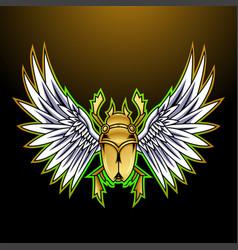 Scarab esport mascot logo design vector