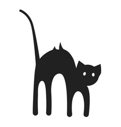 Scary cat icon simple style vector