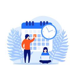 set a deadline time management concept vector image