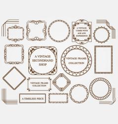 set assorted vintage frames vector image