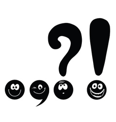 Set funny smiley punctuation vector