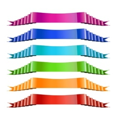 Set of Color Ribbons Stock vector image