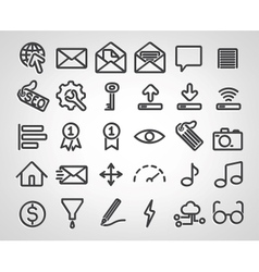 Set of SEO icons vector