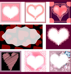 Set of templates for cards wedding birthday vector