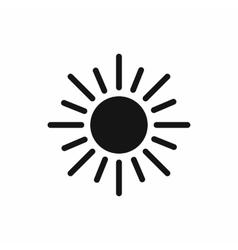 Sun icon simple style vector