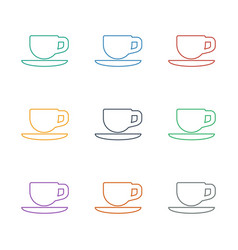 Tea cup icon white background vector