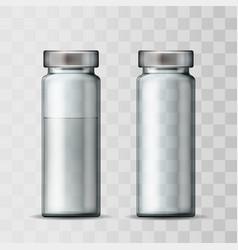 template transparent glass medical vial vector image
