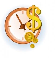 time and dollars vector image