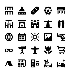 Tourism and Travel Icons 11 vector image