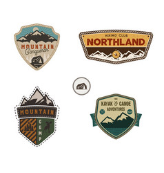 Travel badge outdoor activity logo collection vector