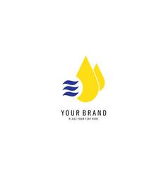 water drop symbol logo vector image