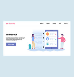 Web site gradient design template mobile vector