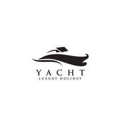 Yacht logo icon design template vector