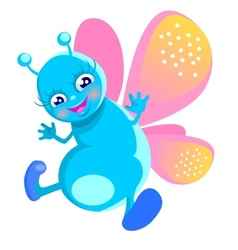 happy butterfly vector image vector image