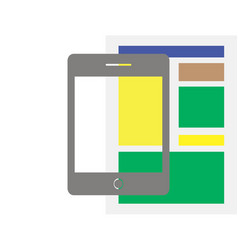 tablet flat icon design newspaper vector image