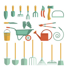 Tools for gardening vector