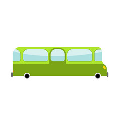 bus cartoon style transport on white background vector image vector image