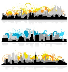 cityscape skyline panorama vector image vector image