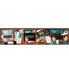Flat design office of advertising agency vector image