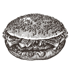 Hamburger logo design template fast food vector