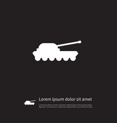 isolated artillery icon warfare element vector image